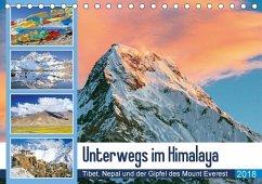 9783665731489 - CALVENDO: Unterwegs im Himalaya: Tibet, Nepal und der Gipfel des Mount Everest (Tischkalender 2018 DIN A5 quer) - Libro