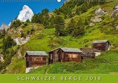 9783665731717 - AG, Calendaria: Schweizer Berge 2018 (Wandkalender 2018 DIN A2 quer) - Book