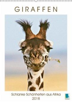 9783665731236 - CALVENDO: Giraffen: Schlanke Schönheiten aus Afrika (Wandkalender 2018 DIN A2 hoch) - Libro
