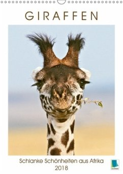 9783665731229 - CALVENDO: Giraffen: Schlanke Schönheiten aus Afrika (Wandkalender 2018 DIN A3 hoch) - Buch