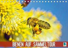 9783665731045 - CALVENDO: Bienen auf Sammeltour (Tischkalender 2018 DIN A5 quer) - Livre