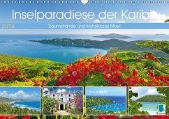 9783665731502 - CALVENDO: Inselparadiese der Karibik (Wandkalender 2018 DIN A3 quer) - Könyv