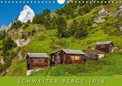9783665731694 - AG, Calendaria: Schweizer Berge 2018 (Wandkalender 2018 DIN A4 quer) - Kitap