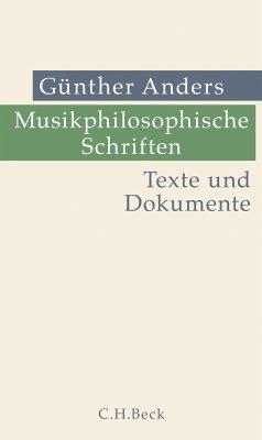 Musikphilosophische Schriften (eBook, PDF) - Anders, Günther