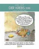 Der Krebs 2018. Sternzeichen-Cartoonkalender