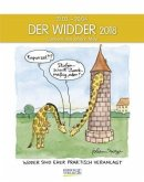 Der Widder 2018. Sternzeichen-Cartoonkalender