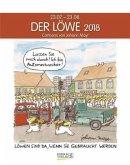 Der Löwe 2018. Sternzeichen-Cartoonkalender