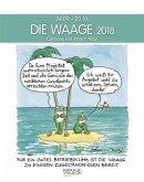 Die Waage 2018. Sternzeichen-Cartoonkalender