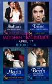 Modern Romance April 2017 Books 1-4: The Italian's One-Night Baby / The Desert King's Captive Bride / Once a Moretti Wife / The Boss's Nine-Month Negotiation (eBook, ePUB)