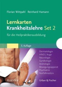Lernkarten Krankheitslehre Set 2 für die Heilpraktikerausbildung - Wittpahl, Florian; Hamann, Reinhard