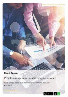 Projektmanagement in Matrixorganisationen. Wie lassen sich die Personalressourcen effektiv steuern? (eBook, ePUB)