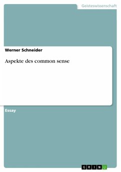 Aspekte des common sense (eBook, ePUB)