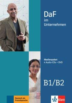 4 Audio-CDs + DVD / DaF im Unternehmen .B1-B2 - Fügert, Nadja; Grosser, Regine; Hanke, Claudia; Ilse, Viktoria; Mautsch, Klaus; Sander, Ilse; Schmeiser, Daniela