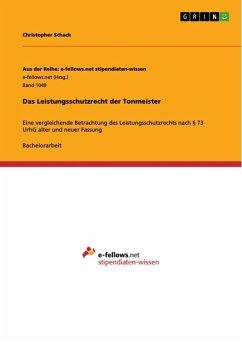 Das Leistungsschutzrecht der Tonmeister (eBook, ePUB)