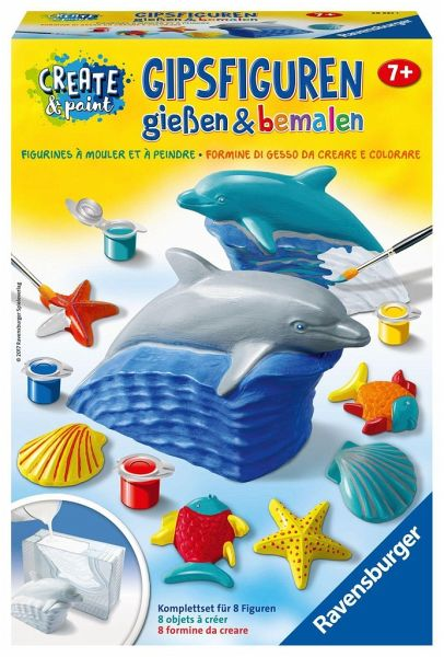 ravensburger 285211 create paint delfin. Black Bedroom Furniture Sets. Home Design Ideas