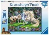Ravensburger 128389 - Geheimnisvolle Einhörner - Puzzle, 200 XXL-Teile