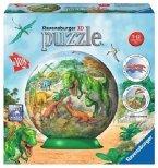 Ravensburger 122677 - Im Reich der Dinosaurier, 3D-Puzzle-Ball, 108 Teile