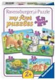 Ravensburger 069514 - my first puzzles, Niedliche Haustiere,