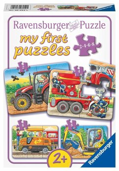 ravensburger 069545 my first puzzles bei der arbeit kinderpuzzle bei b immer. Black Bedroom Furniture Sets. Home Design Ideas