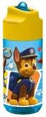 Paw Patrol, transparente Trinkflasche mit integriertem Strohhalm 400 ml