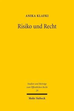 Risiko und Recht (eBook, PDF) - Klafki, Anika
