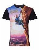 Zelda Breath of the Wild T-Shirt -L- Link Climbing