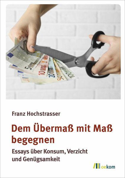 Dem Übermaß mit Maß begegnen (eBook, PDF) - Hochstrasser, Franz