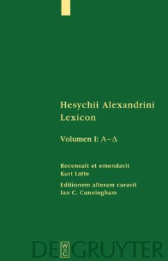Hesychii Alexandrini Lexicon. Volumen I: A - Delta