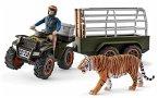 Schleich 42351 - Wild Life, Quad mit Anhänger und Ranger, Spiefiguren, Set