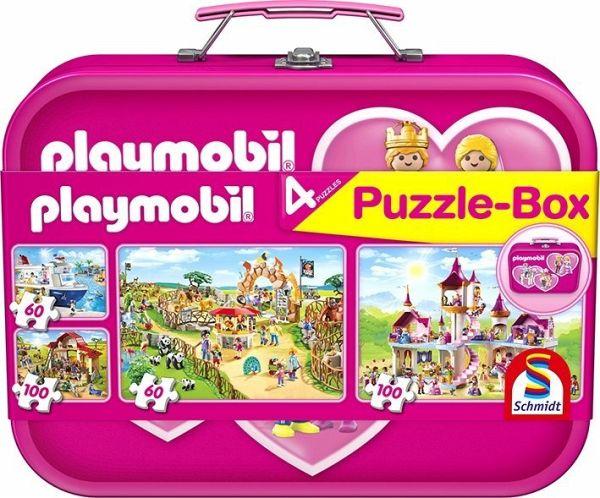 playmobil puzzle box pink kinderpuzzle bei b immer portofrei. Black Bedroom Furniture Sets. Home Design Ideas