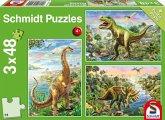 Abenteuer mit den Dinosauriern (Kinderpuzzle)