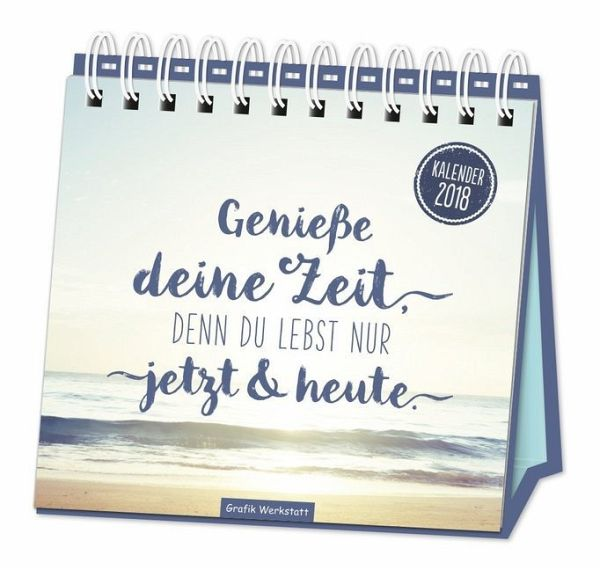 tischkalender genie e deine zeit 2018 kalender. Black Bedroom Furniture Sets. Home Design Ideas