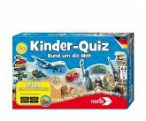 Noris 606011630 - Kinder-Quiz, Rund um die Welt, 3300 Fragen und Antworten, Reisespiel