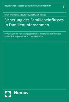 Sicherung des Familieneinflusses in Familienunt...