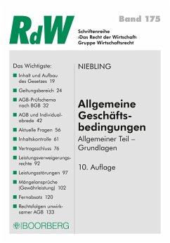 Allgemeine Geschäftsbedingungen (eBook, PDF) - Niebling, Jürgen