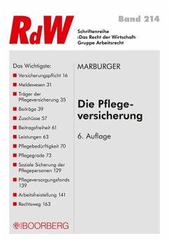 Die Pflegeversicherung (eBook, PDF) - Marburger, Horst
