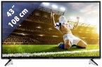 Panasonic TX-43EXW604 Glossy Black with Silver Line 108 cm (43 Zoll) Fernseher (4K / Ultra HD, DVB-T2/ DVB-S2/ DVB-C, Smart TV)