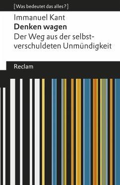 Denken wagen (eBook, ePUB) - Kant, Immanuel
