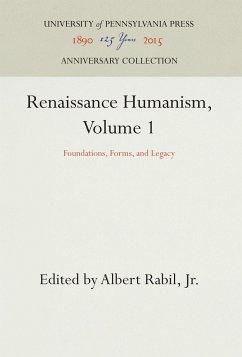 Renaissance Humanism, Volume 1
