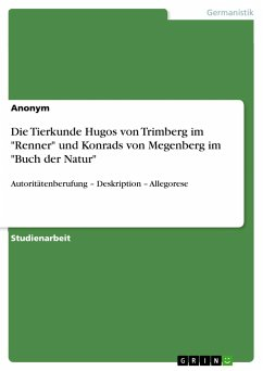 Die Tierkunde Hugos von Trimberg im