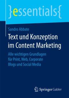 Text und Konzeption im Content Marketing - Abbate, Sandro