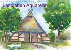 Landleben Aquarelle (Wandkalender 2018 DIN A4 q...