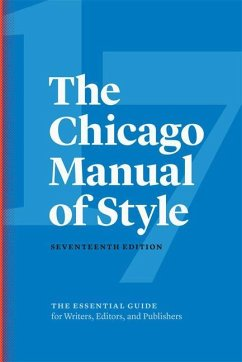 The Chicago Manual of Style - The University, The University