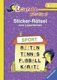 Sticker-Rätsel zum Lesenlernen (3. Lesestufe)