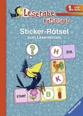 Sticker-Rätsel zum Lesenlernen (1. Lesestufe), blau