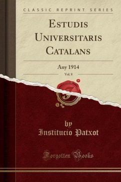 9780243982677 - Patxot, Institucio: Estudis Universitaris Catalans, Vol. 8 - Book