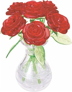 6 rote Rosen in der Vase (Puzzle)