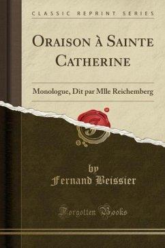 9780243980505 - Beissier, Fernand: Oraison à Sainte Catherine - Liv