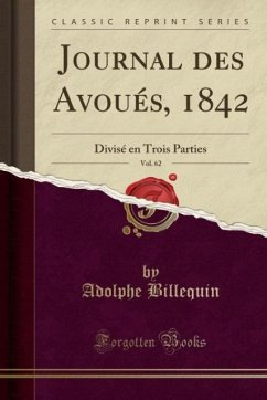 9780243981564 - Billequin, Adolphe: Journal des Avoués, 1842, Vol. 62 - Liv