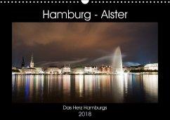 Hamburg - Alster (Wandkalender 2018 DIN A3 quer)